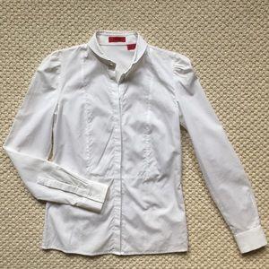 Like new! White cotton blouse by Hugo Boss